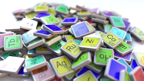 Thallium Tl Block On The Pile Of Periodic Table Of The Chemical