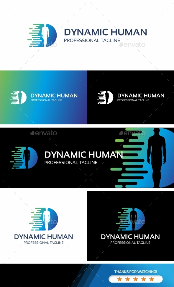 GraphicRiver Dynamic Human Logo 20806963