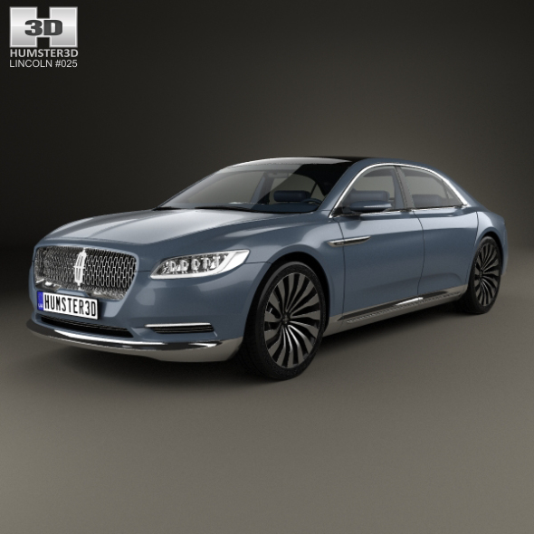 Lincoln Continental with HQ interior 2015 - 3DOcean Item for Sale