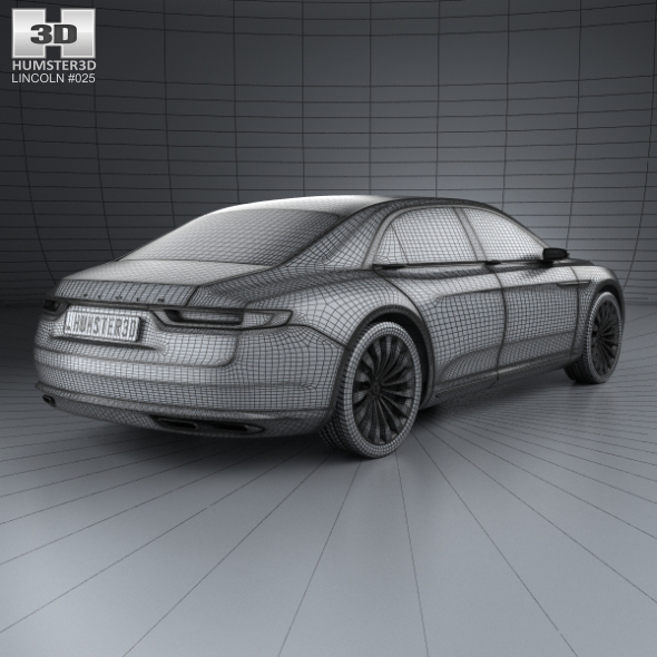 Lincoln Continental With Hq Interior 2015 By Humster3d
