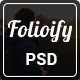 Folioify - Personal Portfolio PSD Template - ThemeForest Item for Sale