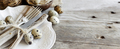 Rustic Easter table setting