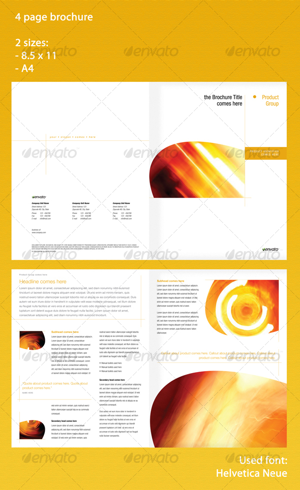4 page brochure in 2 sizes - Corporate Brochures