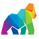 Gorilla Colorful Polygon Logo - GraphicRiver Item for Sale