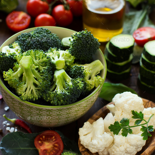 Fresh vegetables on a table - Stock Photo - Images