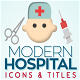 Modern Hospital Icons & Titles - VideoHive Item for Sale