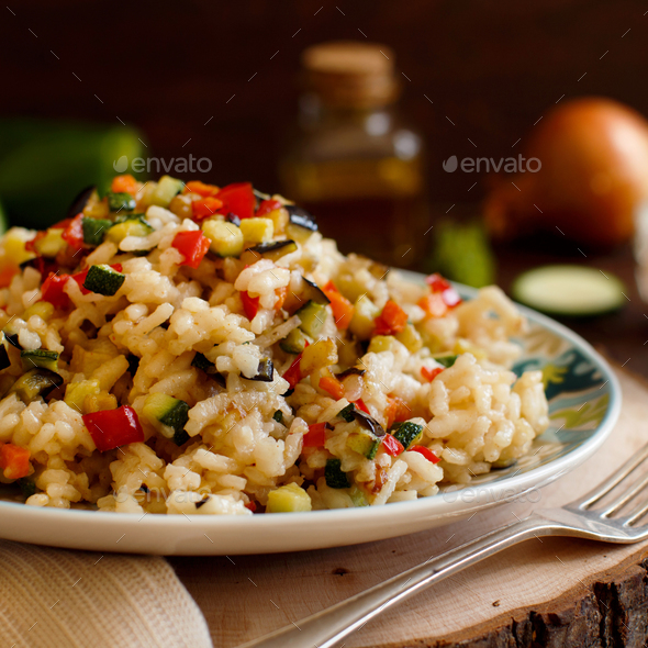 Risotto with vegetables - Stock Photo - Images