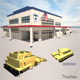 Police Station Low Poly - 3DOcean Item for Sale