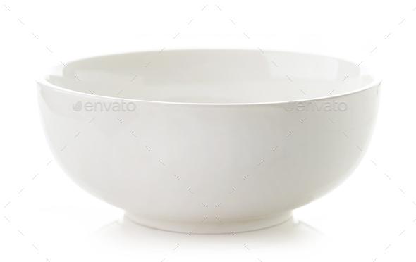 empty white bowl - Stock Photo - Images