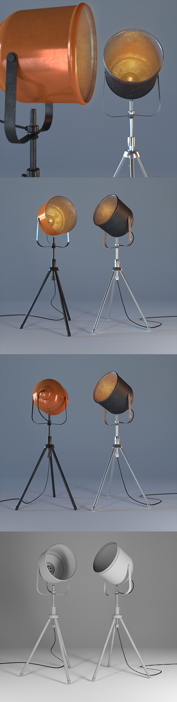 Floor lamp-soffit - 3DOcean Item for Sale