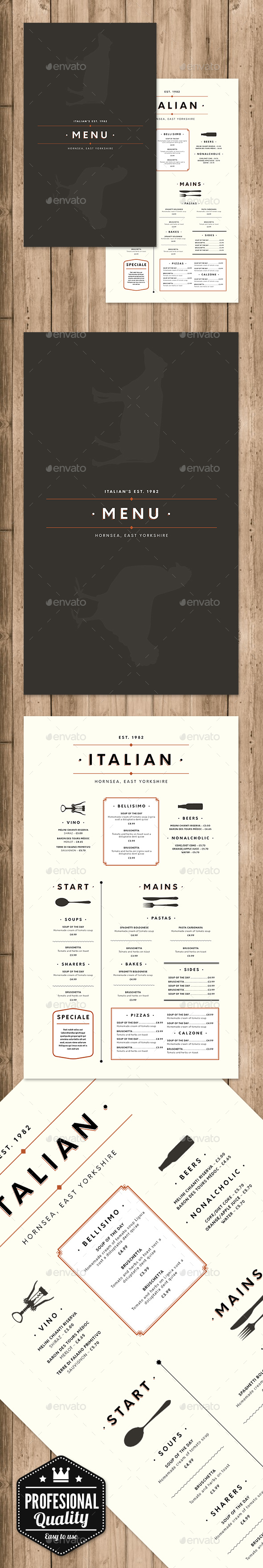 GraphicRiver Restaurant menu 20808519