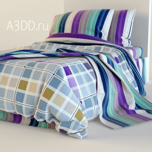 3DOcean Double Bed Bed Linen 20808523