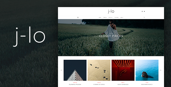 J-lo – Elegant Blogging PSD Template