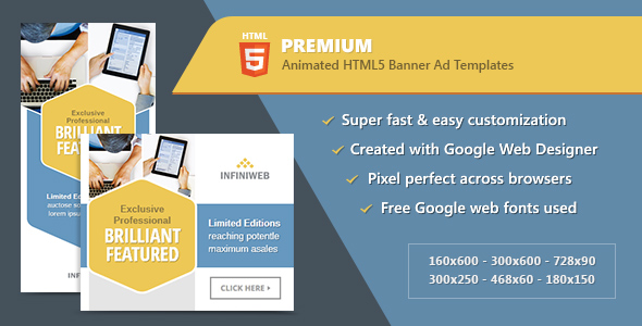 HTML5 Premium Banner Ads - Animated GWD Templates - CodeCanyon Item for Sale