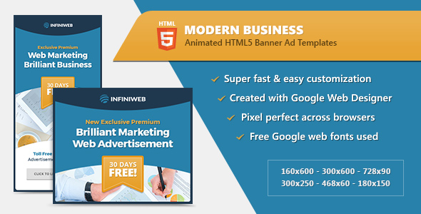 HTML5 Modern Business Banners - GWD Templates - CodeCanyon Item for Sale