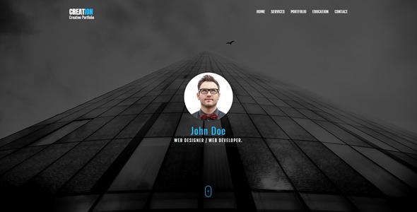 Creation - Personal Portfolio HTML Template - Portfolio Creative