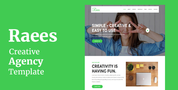 Raees - Creative Agency Template