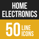Home Electronics Filled Low Poly B/G Icons