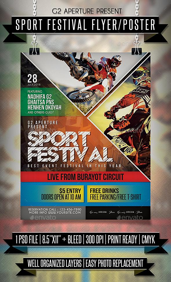 GraphicRiver Sport Festival Flyer Poster 20809192