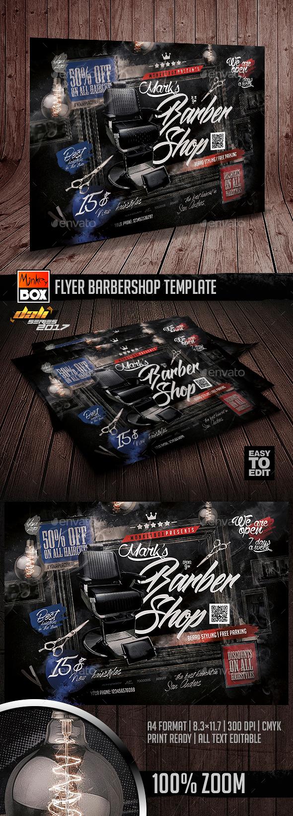 GraphicRiver Flyer Barbershop Template 20796865