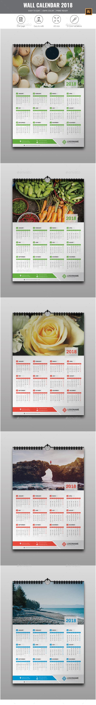 1 Page Wall Calendar 2018 - Calendars Stationery