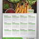1 Page Wall Calendar 2018 - GraphicRiver Item for Sale