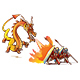 The Dragon vs Warrior - GraphicRiver Item for Sale