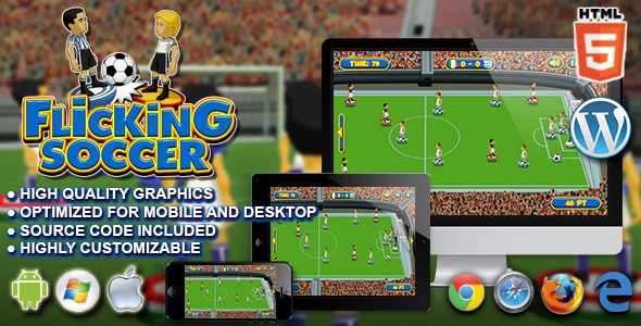 Flicking Soccer - HTML5 Sport Game - CodeCanyon Item for Sale