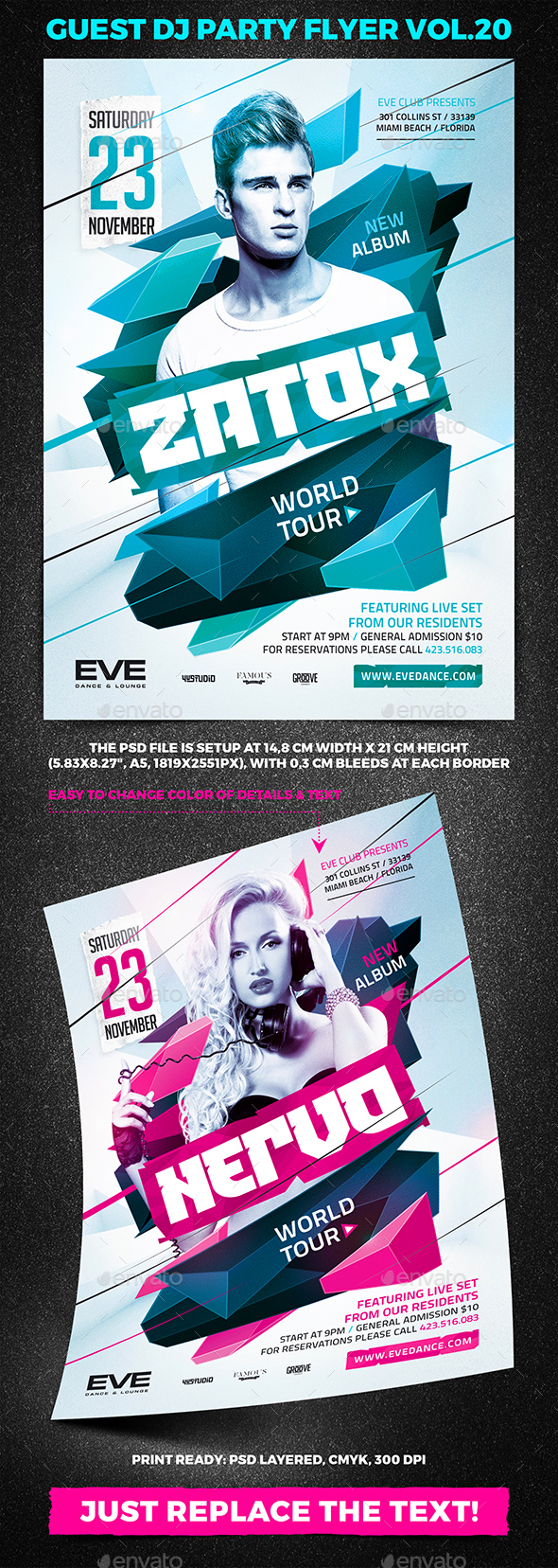 Guest DJ Party Flyer vol.20 - Clubs & Parties Events