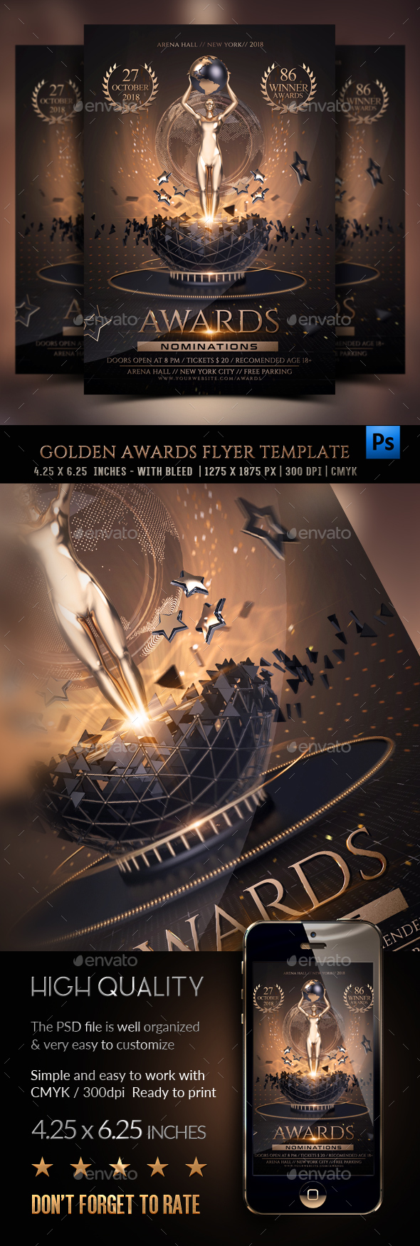 GraphicRiver Golden Awards Flyer Template 20795796