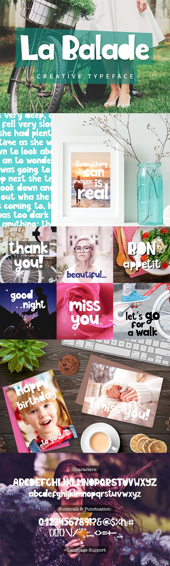 GraphicRiver La Balade Creative Typeface 20809985