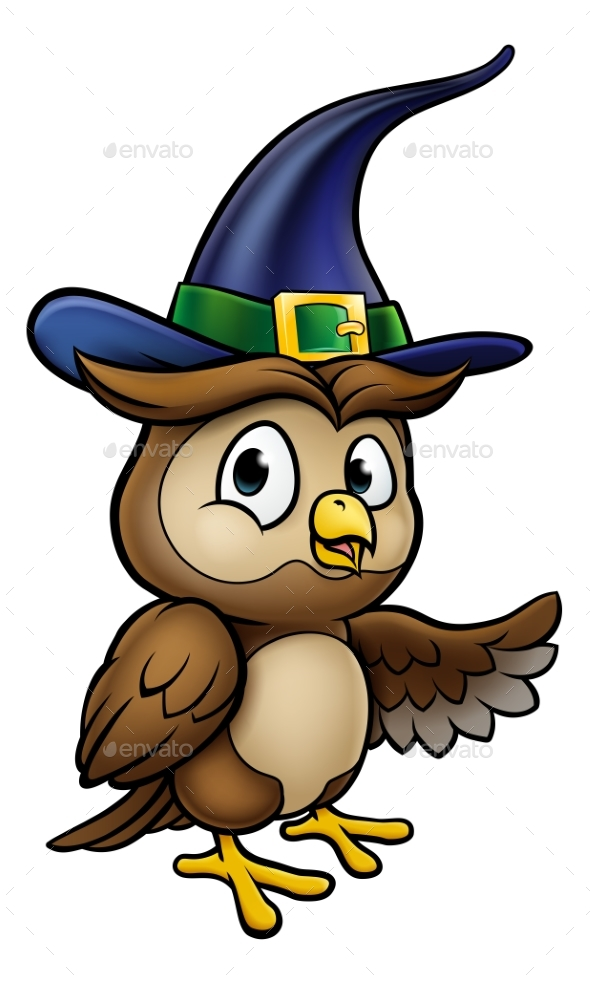 Cartoon Owl Character - Halloween Seasons/Holidays