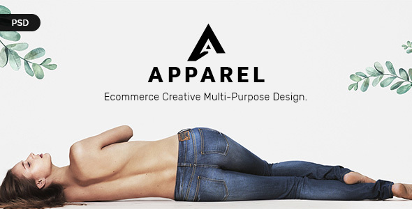 Apparel E-Commerce PSD Template - Retail PSD Templates