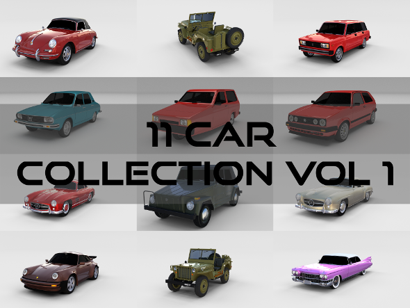 Car Collection Vol 1 - 3DOcean Item for Sale