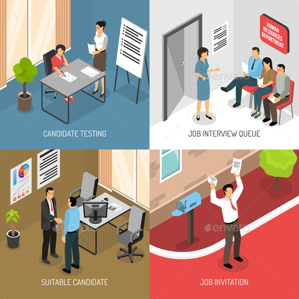 GraphicRiver Employment Isometric Design Concept 20810312