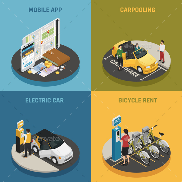 GraphicRiver Carsharing 2x2 Design Concept 20810318