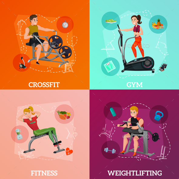 GraphicRiver Exercise Equipment Concept 20810325