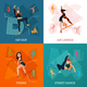 Modern Dance Types Concept