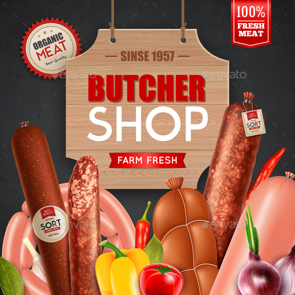 GraphicRiver Butcher Shop Illustration 20810336