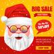 Santa Claus Christmas Sale Poster