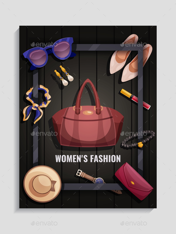 Women Accessories Poster - Miscellaneous Vectors