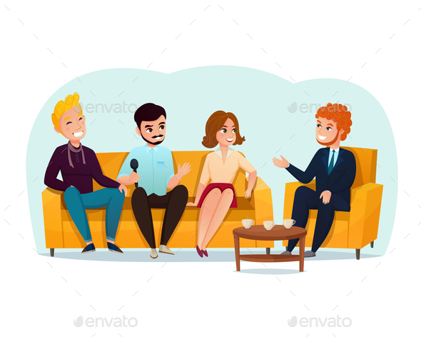 GraphicRiver Talk Show Participants Illustration 20810347