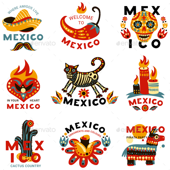 GraphicRiver Dead Day Mexico Icons Set 20810350