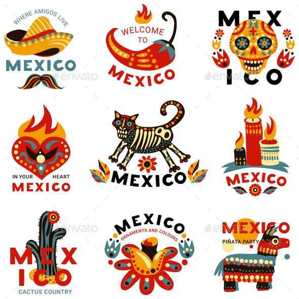 Dead Day Mexico Icons Set - Seasons/Holidays Conceptual
