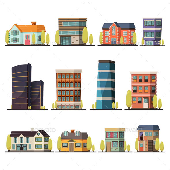 GraphicRiver Living Buildings Orthogonal Set 20810351