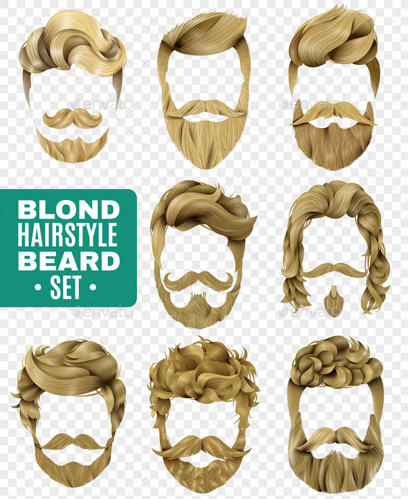 GraphicRiver Realistic Male Hairstyle Set 20810360