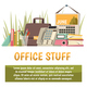 Office Flat Orthogonal Background