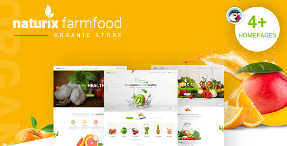 Image of JMS Naturix - Organic Fruit Vegetables Prestashop Theme