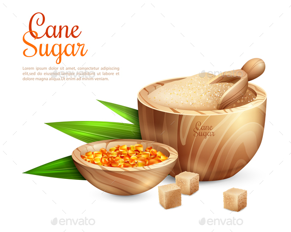 Cane Sugar Pail Background - Food Objects