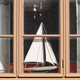Traditional wooden window with model boats. Vintage background. Horizontal - PhotoDune Item for Sale